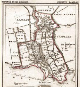 Zaandam - kaart 1868