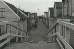 189 Zaandam Oranjestraat vanaf de brug over de Vaart 1961